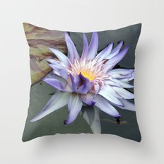lotus_purple Throw Pillow