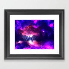 Cosmic Mountains Framed Art Print