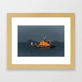 RNLI Lifeboat Torbay Framed Art Print