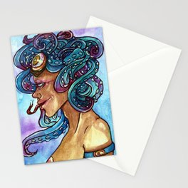 Octopuss queen Stationery Cards