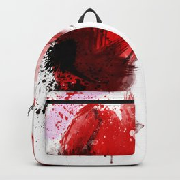 Beauty in red hat, Fashion Beauty, Fashion Painting, Fashion IIlustration, Vogue Portrait, #18 Backpack