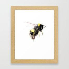 Bumblebee, bee art, bee design Framed Art Print