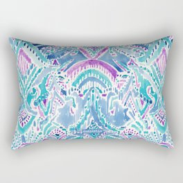 UNICORN DAYDREAMS Mythical Watercolor Tapestry Rectangular Pillow
