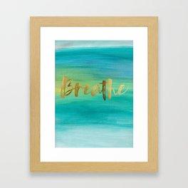 Breathe, Ocean Series 4 Framed Art Print