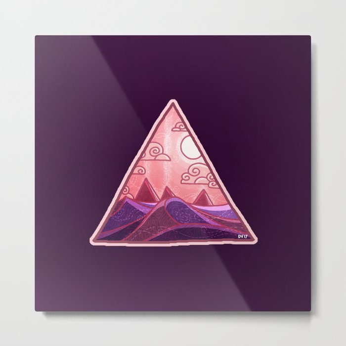 Pyramid Land Metal Print