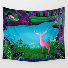 The Silent Deep Stream of Greendown Glenn Wall Tapestry
