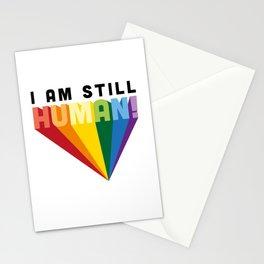 I am still human. Stationery Cards