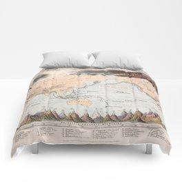 Vintage Volcano and Earthquake World Map (1852) Comforters