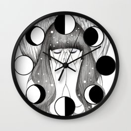 Moon Spells Wall Clock