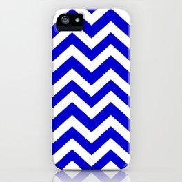 Medium blue - blue color - Zigzag Chevron Pattern iPhone Case