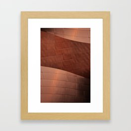 Architectural abstract of the home to the LA Philharmonic, Architect: Frank Gehry Framed Art Print