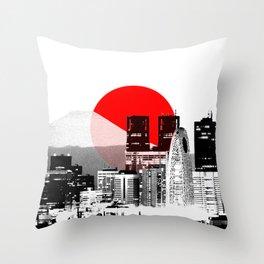 Modern Japan - Tokyo - Shinjuku Throw Pillow