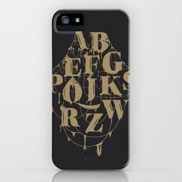 Type Splatt iPhone Case