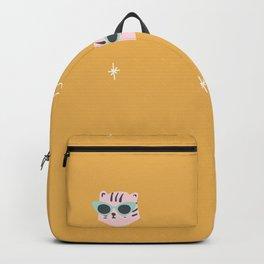 Gold Tiger Pattern Backpack
