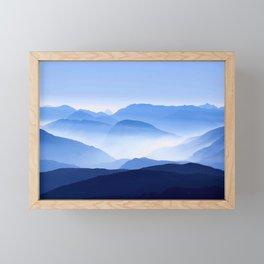 Blue Mountain Horizon Framed Mini Art Print