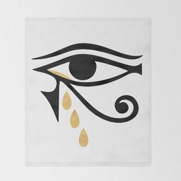 ALL SEEING CRY - Eye of Horus Throw Blanket