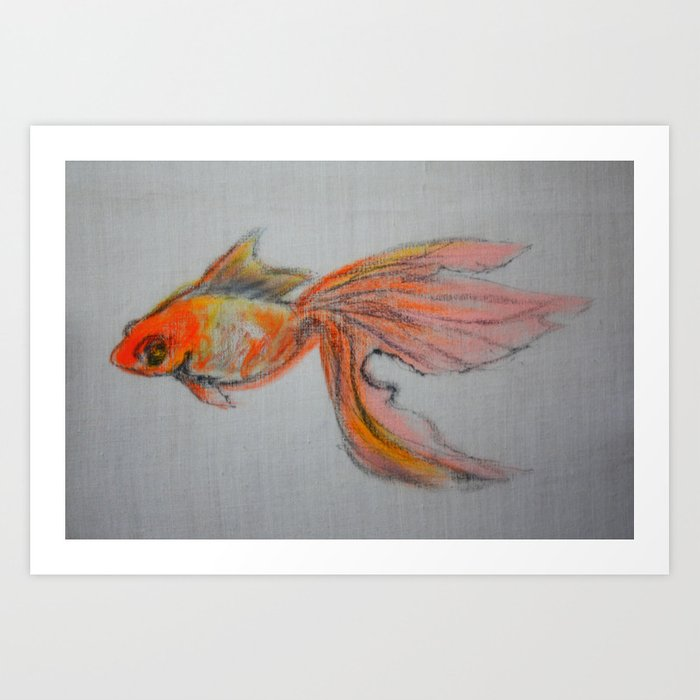 Goldfish Pond (close up #9) #society6 #decor #buyart Art Print