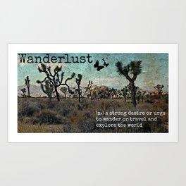 Wanderlust Inspirational Travel Quote  Art Print