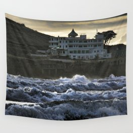 Stormy Burgh Island Hotel Wall Tapestry