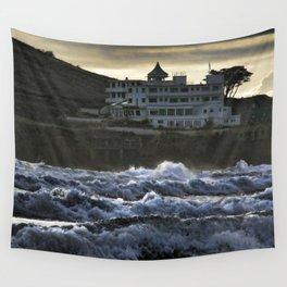 Stormy Burgh Island Hotel Wall Tapestry