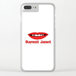 Damnit Janet! Clear iPhone Case