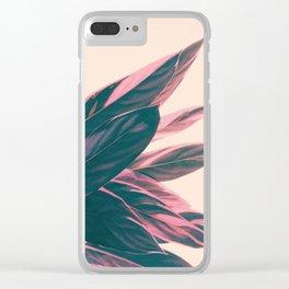 Pink Kalathea Clear iPhone Case