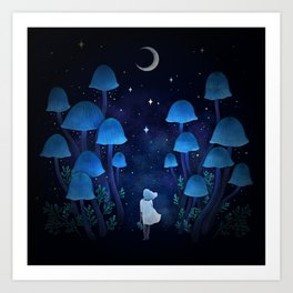 Fungi Forest Art Print