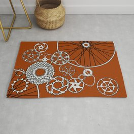 Beauty in Bicycle Parts Rug