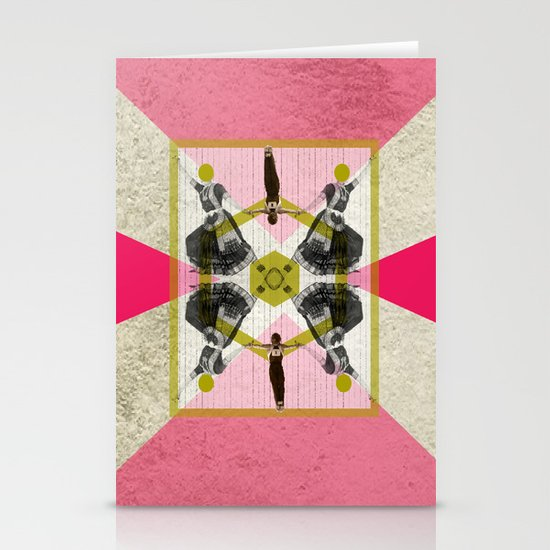 Bollywood geometrical gym Stationery Cards
