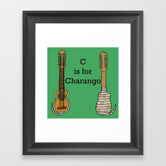 C is for Charango Framed Art Print