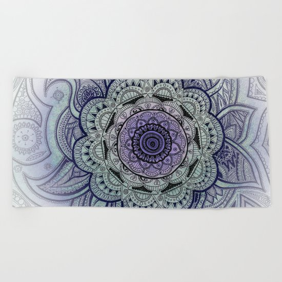 Mandala Purple Beach Towel