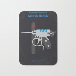 No586 My Men in Black minimal movie poster Bath Mat