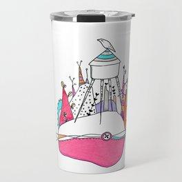 The Wolf and watertower. Travel Mug