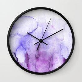 Wanderlust purple watercolor Wall Clock