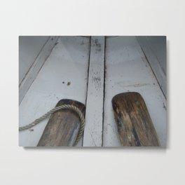 Wooden Oars Metal Print