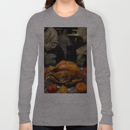 Thanksgiving Turkey for US Military Servicemen  Long Sleeve T-shirt