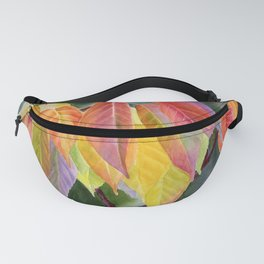 Colorful Fall Leaves with Background Fanny Pack