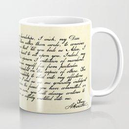 Alexander Hamilton Letter to John Laurens Coffee Mug