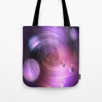 return Tote Bags featuring Return by Laake-Photos