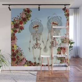 The Summer of Love anatomical skeleton collage art by bedelgeuse Wall Mural