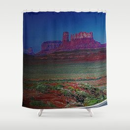 Monument Valley Twilight Shower Curtain