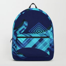 Blue Fish Angel Anglers Angles Backpack