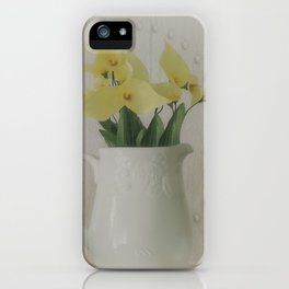 PITCHER OF FLOWERS iPhone Case