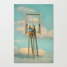 Window cleaner in the sky 02 Canvas Print