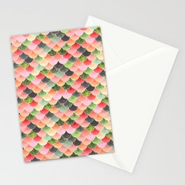 Tropical Mermaid Scales Stationery Cards