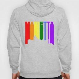 Marietta Georgia Gay Pride Rainbow Skyline Hoody