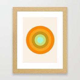 Slammin' - retro vibes 1970s style throwback bullseye circle infinity 70's Framed Art Print
