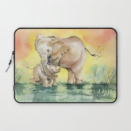 Colorful Mother's Love - Elephant Laptop Sleeve