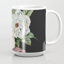 Colorful Wildflower Bouquet on Charcoal Black Coffee Mug