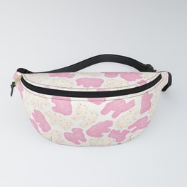 Frosted Animal Cookies on White Fanny Pack